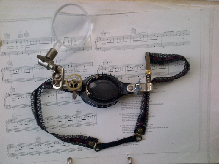 Steampunk Eyepatch / Monocle  Found objects