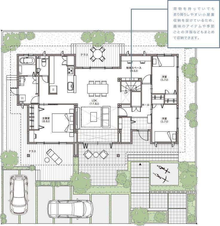 空間を活かす | シンセ・ピアーナ 理想の平屋|住宅・ハウスメーカーのトヨタホーム                                                                                                                                                                                 もっと見る