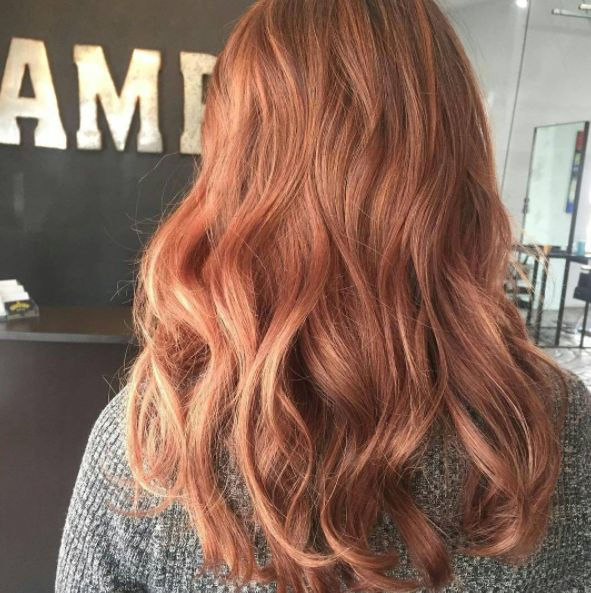 The color is actually more like a peach combined with a juicy strawberry.   Here's The Lowdown On The Hair Trend That's About To Take Over 2017