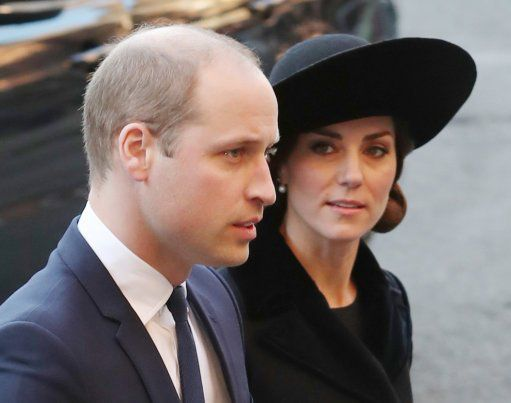 The Duke and Duchess of Cambridge at the Duke of Westminster's Memorial Service