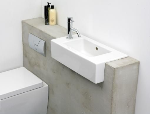 semi recessed sink. £185