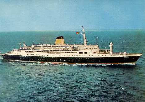 Paquete Funchal, ao serviço entre 1961-1974, transportava 400 passageiros