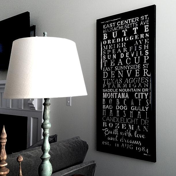 Housewarming Gift Family Words Bus Roll by GeezeesCustomCanvas