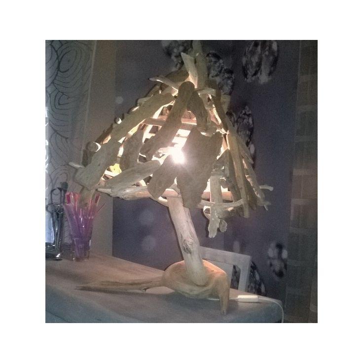 lampes en corces de bois flott 50 nuances de bois - Copeaux De Bois Colors