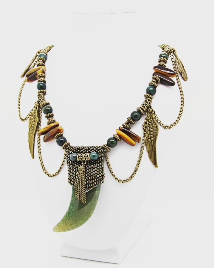 """Dragon Tooth - Necklace """"Dragon Tooth"""" @jewelrybynatalia 