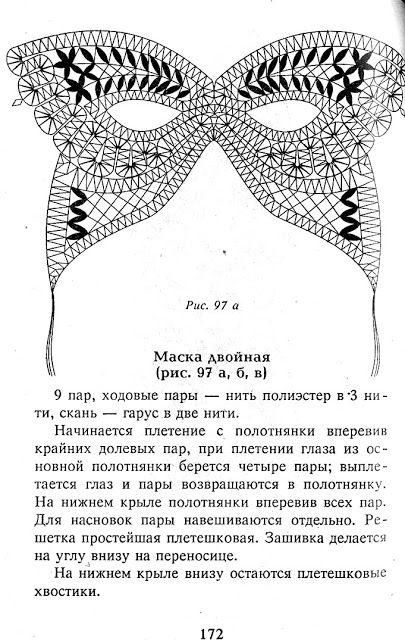Кружева на коклюшках: Маскарадные маски
