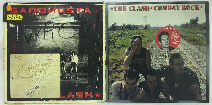 the Clash LP #Vinyl Record Lot: Sandinista + Combat Rock Lot of 2