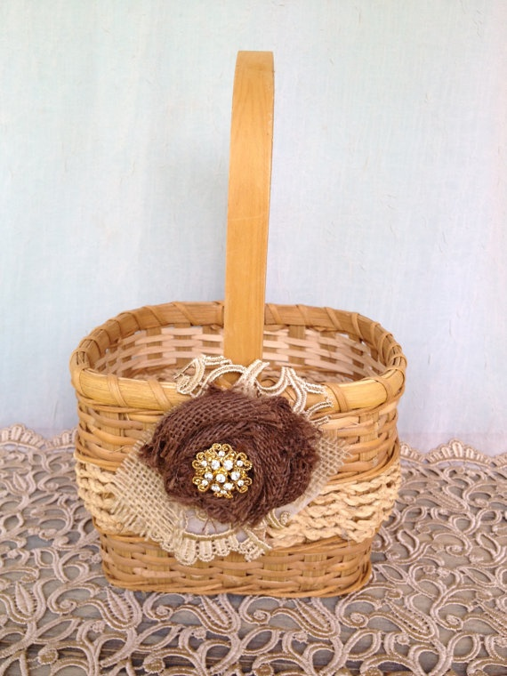 Natural Wicker Flower Girl Baskets : Pin by connie martin on baskets