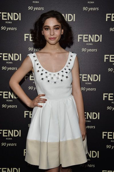 Matilda De Angelis attends the Fendi Roma 90 Years Anniversary Welcome Cocktail at Palazzo Carpegna on July 7, 2016 in Rome, Italy.