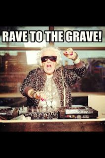 Ruth Flowers, DJ, age 72 - but would she notice if her name was streamed into the headphones? Find out on That's Psych! http://thatspsych.blogspot.com/2015/07/apparently-you-can-gossip-about-babies.html