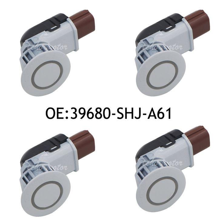 New 4PCS 39680-SHJ-A61 PDC Parking Sensor Bumper Assist Reverse Backup For Honda 2005-2010 Odyssey 2004-2013 CRV white  #Affiliate