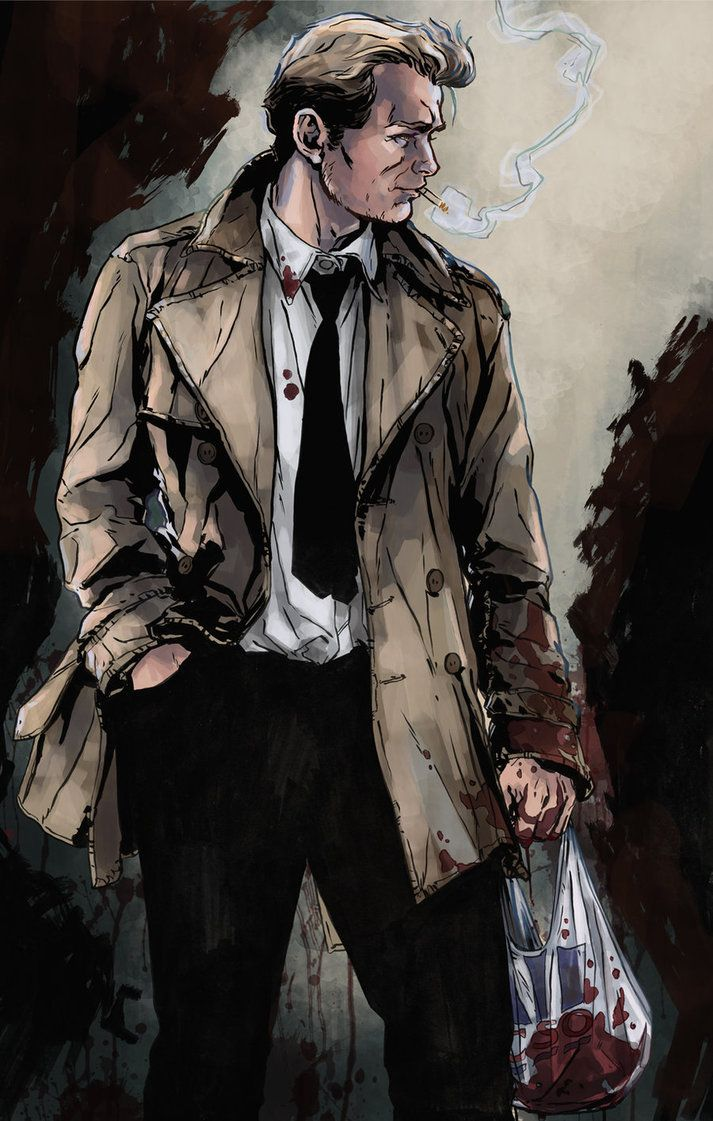 John Constantine by Marc Laming.... the hellblazer... always smoking and casting spells!!