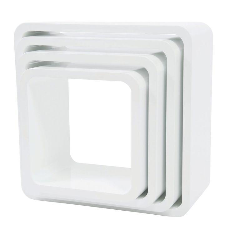 Fabulous Sebra muurkastjes wit vierkant Lief en Klein