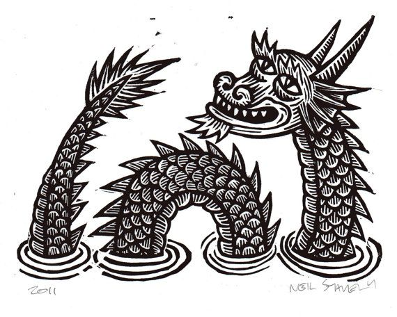 Dragon Linocut Art Print by HorseAndHare via Etsy.: Dragon That S, Drawings, Dragon Linocut, Art Prints, Dragon Art, Linocut Art, Linocut Prints, 12 00