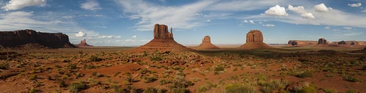 Panoramic view in Monument Valley