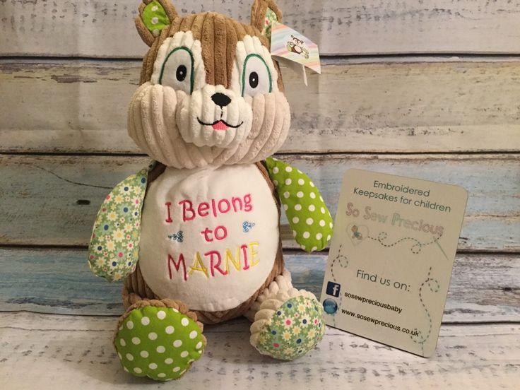 8 best 1st birthday gifts and ideas images on pinterest birthday cubbie harlequin squirrel personalised teddy embroidered baby gift by sosewpreciousbaby on etsy https negle Gallery