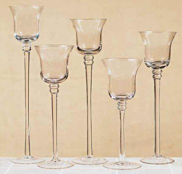 Tall Candle Holder Sets Stemmed Glass Votive Candle