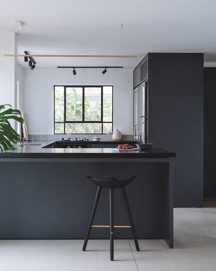 #kitchengoals. This #modernhome By @thisisit.design Features Brass Accents  Throughout Every