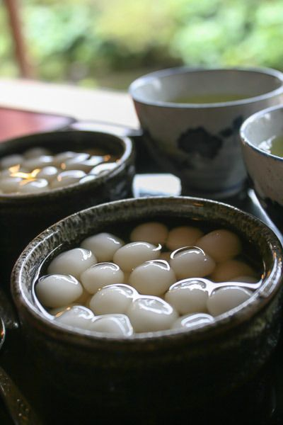 Kanzarashi, Sweets from Shimabara, Nagasaki, Japan (Shiratama Rice Dumplings in Syrup) 寒ざらし