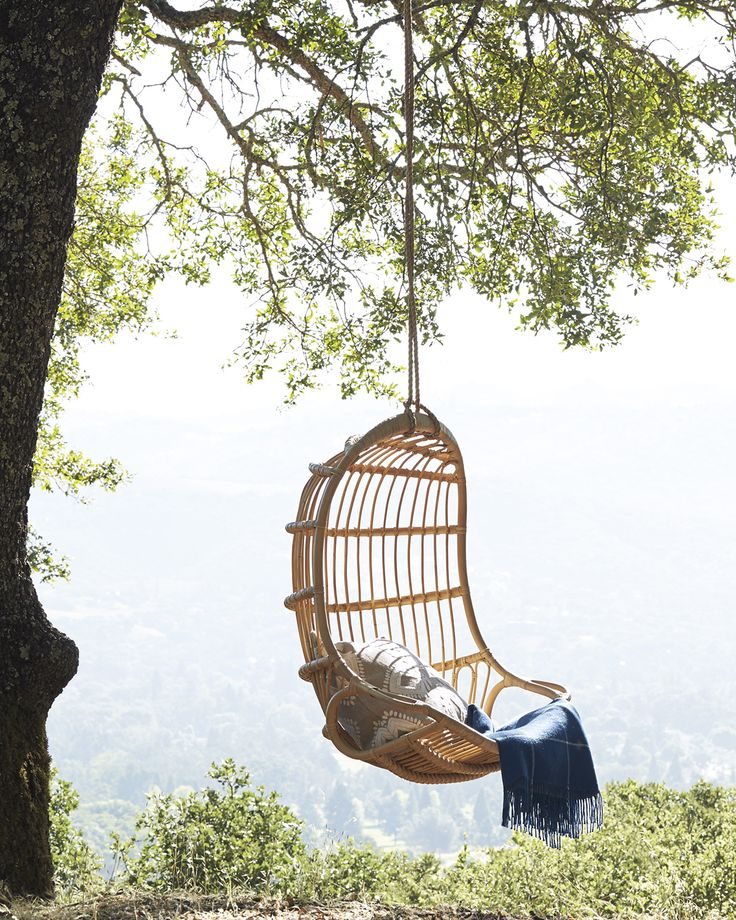 serena and lily hanging chair installation