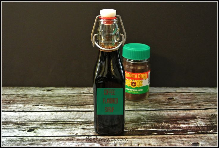 Coffee Flavored Syrup Recipe