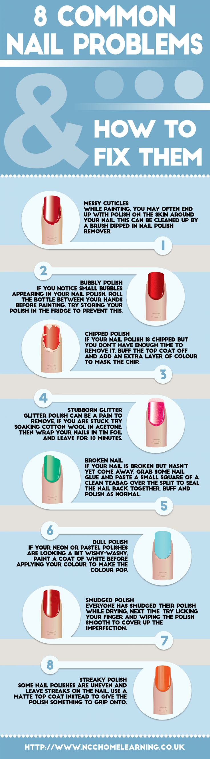 8 Common Nail Problems & How to Fix Them Infographic