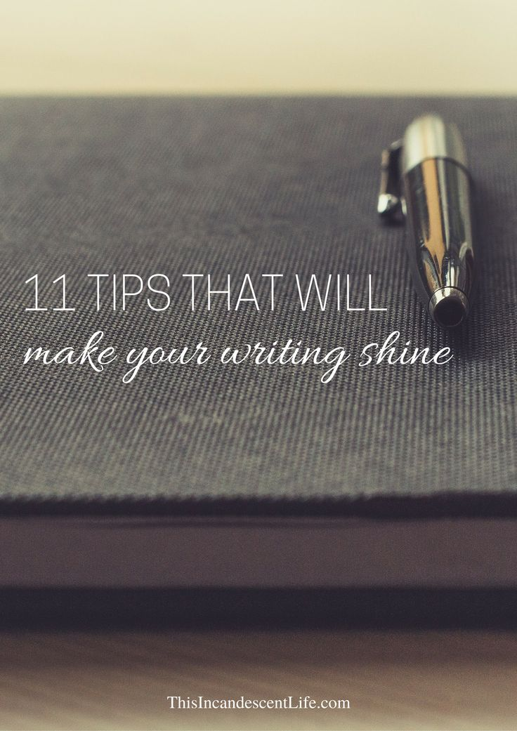 Make your writing shine!