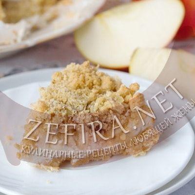 Пирог из овсянки с яблоками и творогом — Кулинарные рецепты любящей жены