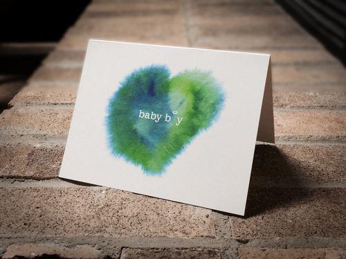 Baby boy condolence card.