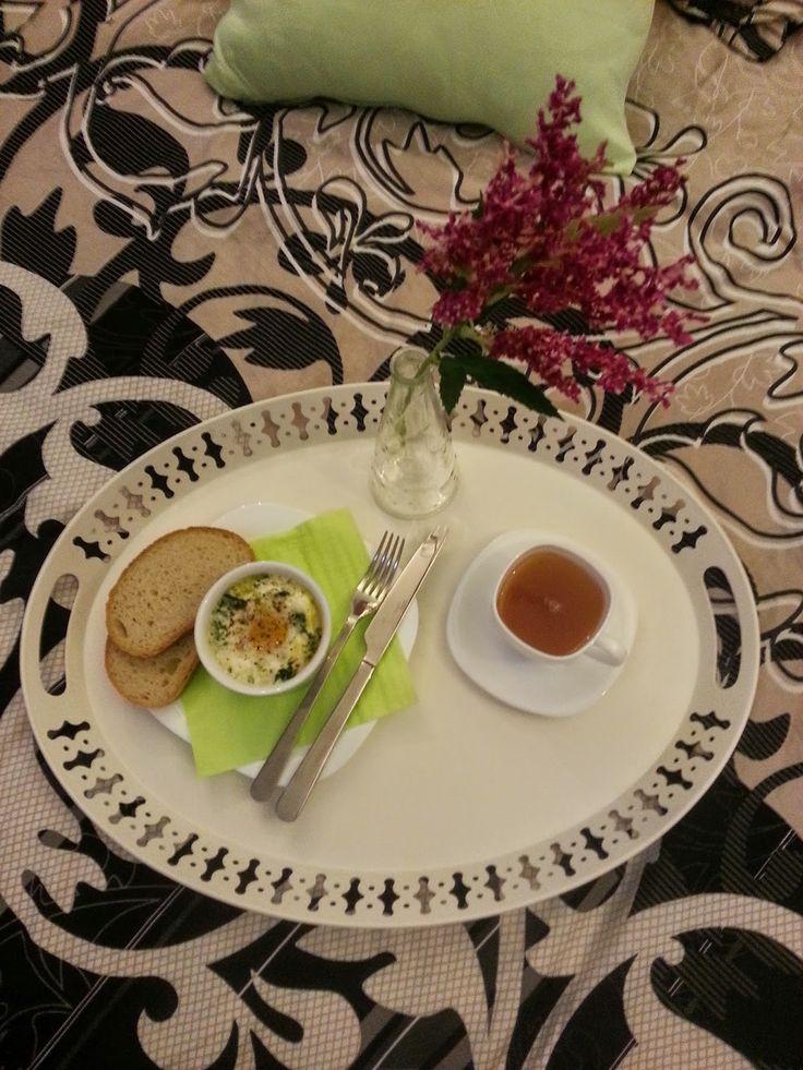 My Culinary Art: Śniadanie do łóżka - jajka zapiekane ze szpinakiem