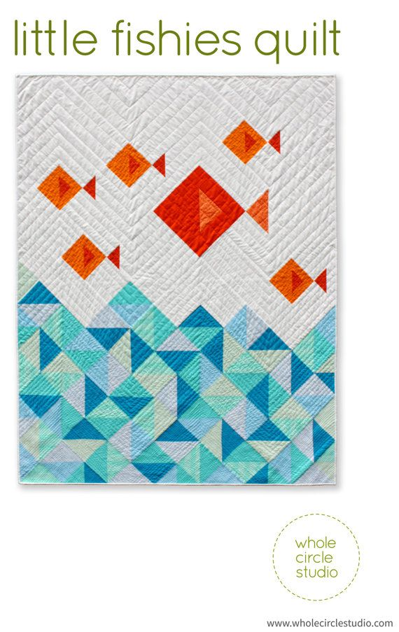 Fish Quilt. PDF. Pattern only. Modern Quilt. Kids Gift. Baby Gift. Quilt Pattern for beginners. Instant Download.