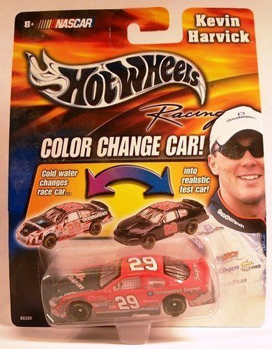 2003 Kevin Harvick #29 Snap On Color Changer Car Hotwheels 1/64 Scale Diecast Cold Temperature To Warm Temperature Changes Color by Hotwheels. $12.99. Hood  and Trunk DO NOT Open. 2003 Kevin Harvick #29 Snap On Color  Changer Car Hotwheels 1/64 Scale Diecast Cold Temperature To Warm Temperature Changes Color. 2003 Kevin Harvick #29 Snap On Color  Changer Car Hotwheels 1/64 Scale Diecast Cold Temperature To Warm Temperature Changes Color