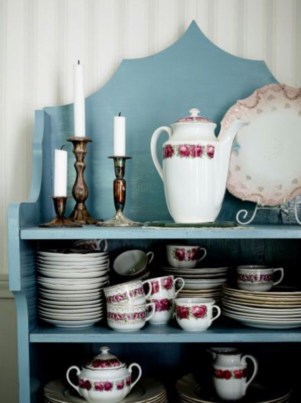 """This beautiful tableware display is from our feature """"Floral Affair"""""""
