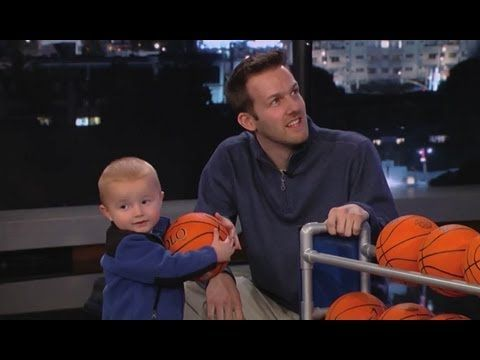 Kobe vs. a 2 year old in shootout! Adorable!