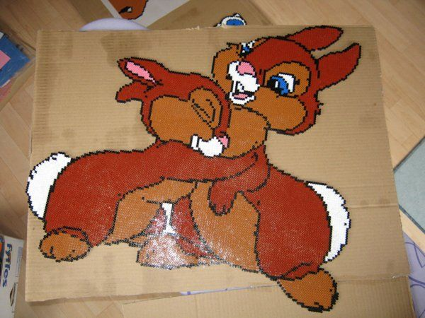 Thumper Bambi hama beads by perleshama30