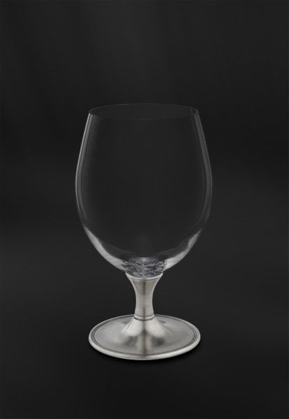 Crystal & Pewter Beer Glass - Height: 17,5 cm (6,9″) - Food Safe Product - #pewter #crystal #beer #glass #peltro #cristallo #bicchiere #birra #zinn #kristallglas #bierglas #étain #etain #cristal #verre #bière #peltre #tinn #олово #оловянный #glassware #drinkware #barware #accessories #decor #design #bottega #peltro #GT #italian #handmade #made #italy #artisans #craftsmanship #craftsman #primitive