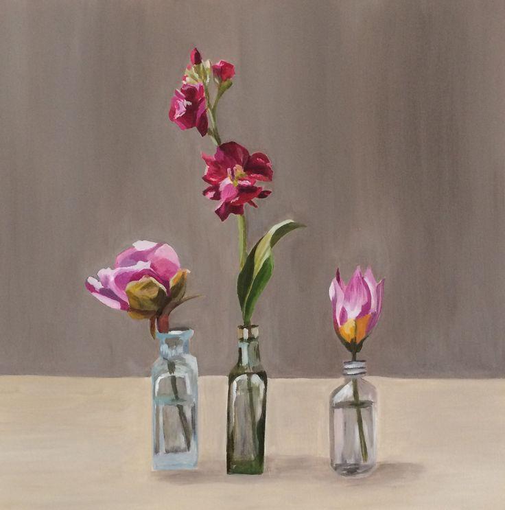 'Springtime at Anlaby' Emma Targett 45x45cm acrylic on canvas www.emmatargett.com