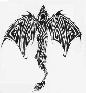 dragon tribal pattern