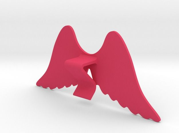Mug & glass accessories wings 4 3d printed Accessories For Your Home Pink Strong & Flexible Polished - https://www.shapeways.com/model/2758955/mug-glass-accessories-wings-4.html?materialId=6
