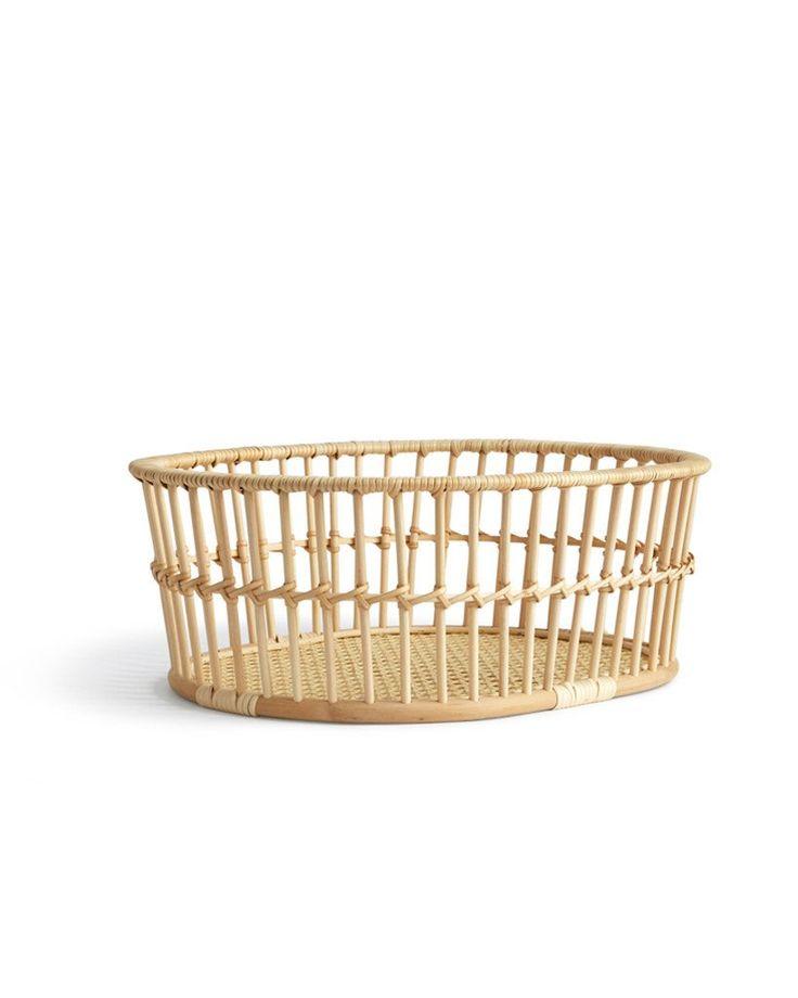 Hairu High Rattan Basket designed by Rina Ono - available at Nalata Nalata
