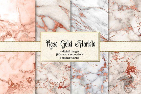 Rose Gold Marble Digital Paper Seamless Marble Textures In Blush Pink And White Instant Download For Commercial Use In 2020 Rose Gold Marble Digital Paper Gold Marble
