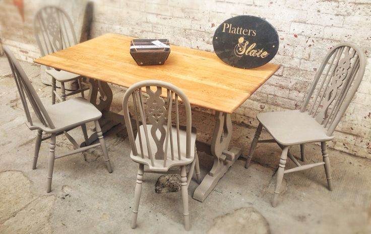 Old Charm Annie Sloan Table and Chairs
