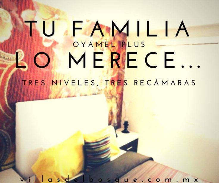 Aprovecha tu crédito de INFONAVIT o FOVISSSTE y adquiere la casa que siempre quisiste. Oyamel Plus de Villas del Bosque, 3 niveles, 3 recámaras, el mejor precio. Desde $825,000 a sólo 30 minutos de Santa Fe y 25 minutos del centro de Toluca. http://www.villasdelbosque.com.mx/contacto.html WhatsApp 7226015189 dorozco@villasdelbosque.com.mx
