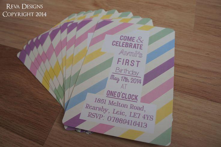 Cute pastel invite