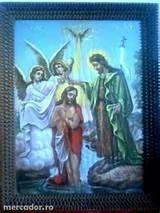 Icoana Botezul Lui Isus semnata de Gheorghe Tattarescu 1890 Murfatlar ...