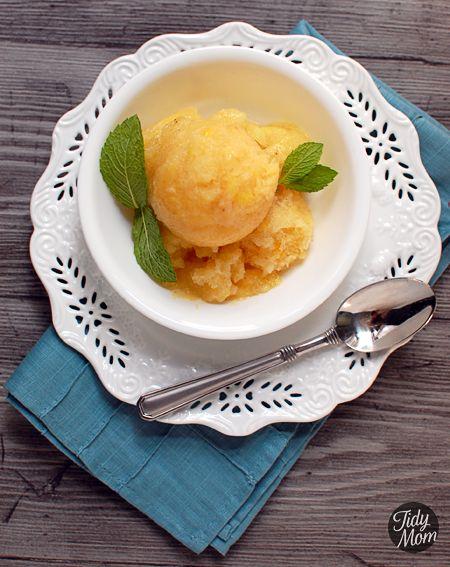 COLD~Banana Pineapple Italian Ice @Cheryl Tidymom