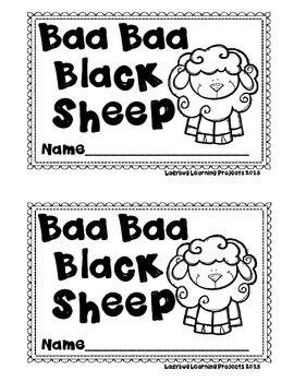 Baa Baa Black Sheep Nursery Rhyme Emergent Reader