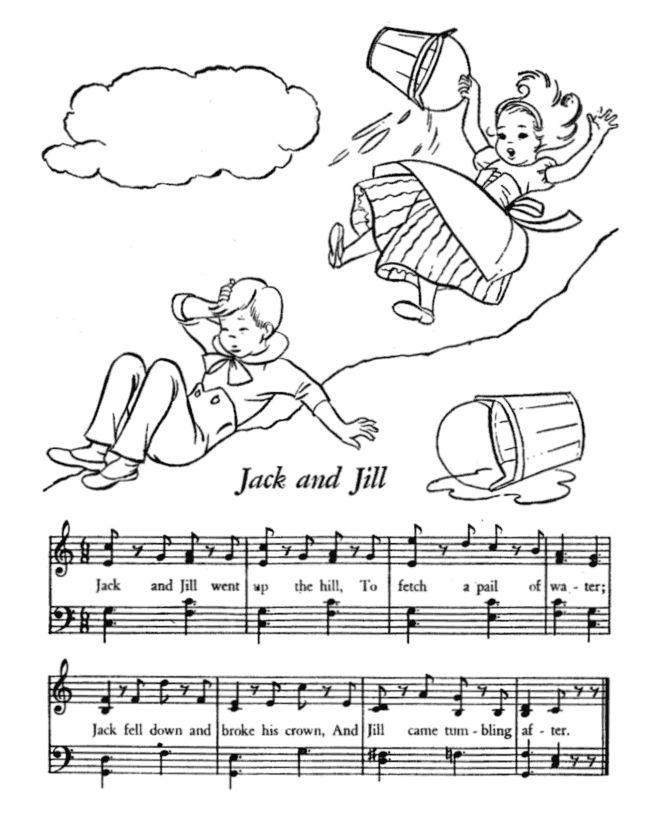 printable nursery rhymes lyrics sheet