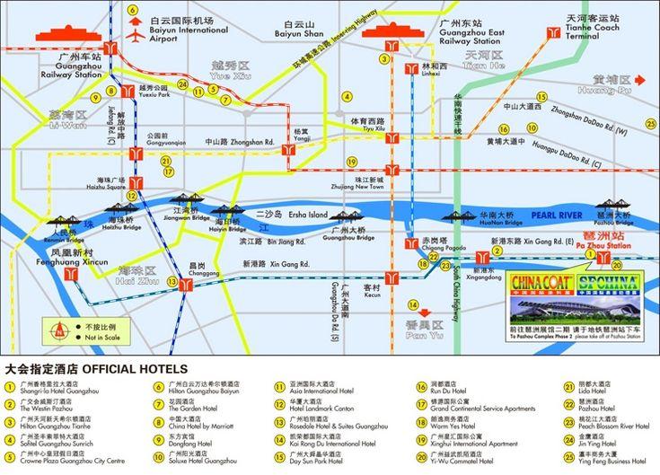 Guangzhou Hotel Map Maps Pinterest Guangzhou And City - Guangzhou map