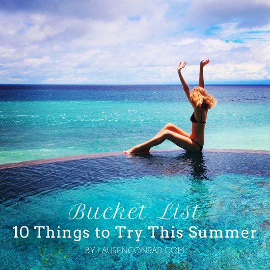 summer bucket list :-)